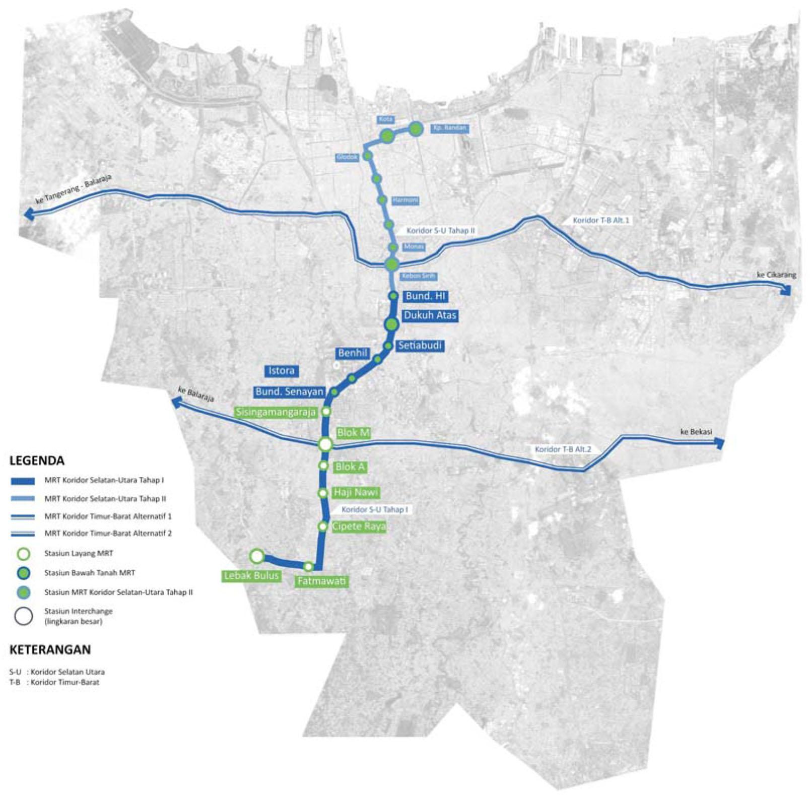 Diagram Rencana MRT Jakarta